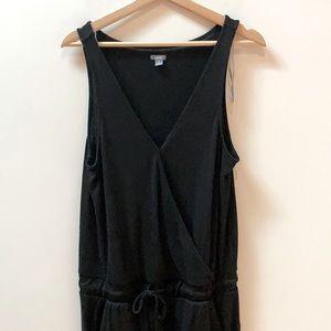 Aerie Soft Black Sleeveless Jumpsuit